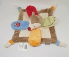 Doudou Plat renard marron rouge orange Sweet Forest bébé 9 bébé9 champignon NEUF