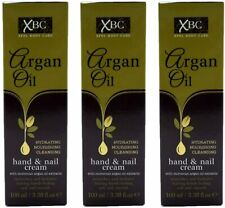 3 X XBC ARGAN OIL HYDRATING NOURISHING CLEANSING HAND AND NAIL CREAM
