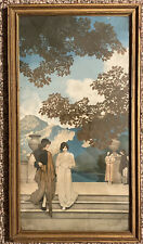 The Garden Of Opportunity Maxfield Parrish HTF 1915 Lithograph Print 11X21 AS IS