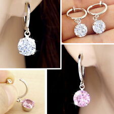 #E118C CLIP ON Charm CZ CUBIC ZIRCONIA EARRINGS Spring Closure look like pierced