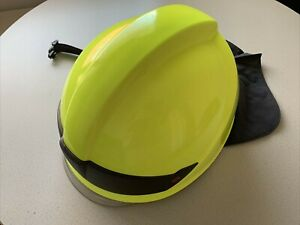 Rosenbauer Feuerwehrhelm Heros Smart Leuchtgelb mit Visier und Nackenschutz