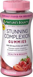 Nature's Bounty Stunning Complexion Skin Care Zinc Supplement Optimal...