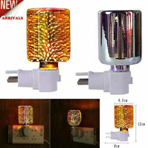Electric Plug-In LED Aroma Diffuser Lamp Light Wax Melt Oil Burner Warmer UK