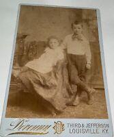 Rare Antique Southern American Victorian Kids, Louisville Kentucky Cabinet Photo