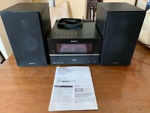 Sony CMT-BX77DBi Micro HiFi - DAB Radio CD iPod dock - Includes Manual - TESTED