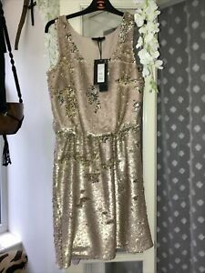 Label Lab Sequin Knee Length Evening Dress Copper Size 16