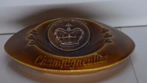 ** ANCIEN GRAND CENDRIER FAÏENCE DE SARREGUEMINES LA REINE CHAMPIGNEULLES