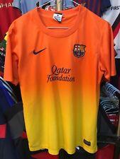 Chicos Barcelona Lejos Camiseta De Fútbol Talla 13-15 años Nike 2012-2013