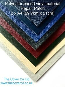 Polyester based vinyl material patches, boat cover repair