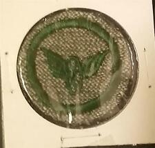 1933-1936 Girl Scout Badge MOTORIST - GREY GREEN ROUND