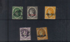 St Lucia 1882-84 Surcharge set used