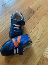 Jack and Lily Navy and Orange Shoes Size 18-24