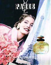 PUBLICITE ADVERTISING 025  1994   YVES SAINT LAURENT  parfum  femme YL