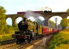 Brève rencontre au pont de Severn image magnifique peinture poster train à vapeur