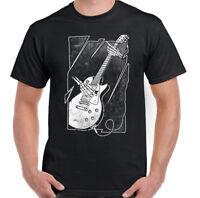 Guitar Skeleton Mens Guitarist T-Shirt Acoustic Electric Bass Amp Strings Skull