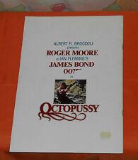 original James Bond 007 OCTOPUSSY Japanese movie program Roger Moore