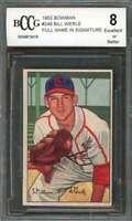Bill Werle Card 1952 Bowman #248 St Louis Cardinals (Ex Or Better) BGS BCCG 8