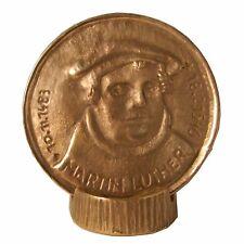 Martin Luther Medaille Plakette 500 Jahre Reformation Bronze  mit Standsockel