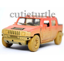 Kinsmart KT5097DY 2005 Hummer H2 SUT 1:36 Diecast Toy Car Muddy Red