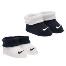 NIKE ensemble lot cadeau coffret 2 paires chaussons bébé 0-6 mois marine blanc