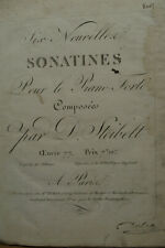 Um 1800: Steibelt, Klaviernoten SONATINES plus 48 handschriftl Notenblätter
