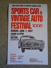 MG CAR & VICTOR LIONS CLUB NY US MGB ORIGINAL MG SPORTS CAR FESTIVAL POSTER 1997