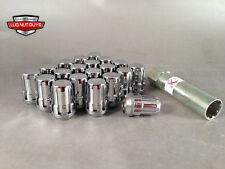 20 McGard Chrome Spline Drive Bulge Acorn Tuner Lug Nuts 12x1.5 Neon Patriot