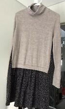 Brand New Rare Two Tone W Floral Pattern Dress