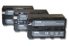 3x Akku 3600mAh für SONY DCR-VX1000 / DCR-VX2000