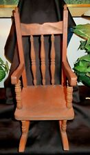 "Vintage Turned Wood Childs Rocking Chair  Custom Made   20"" H x 9"" W x 12"" D"