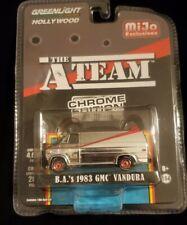 Chase Greenlight 1:64 A Team Chrome Edition Diecast 1983 Gmc Vandura 51225 B.A.