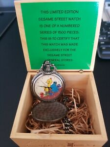SESAME STREET GENERAL STORE FOSSIL POCKET WATCH  Limited Edition Jim Henson
