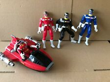 Power Ranger In space figures and jet play set