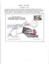 1985 TOPICAL RAILROAD COVER AUSTRALIA RAIL REVIVAL CACHETED