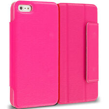 For Apple iPhone 5 5S Wallet Slim Thin Flip Folio Cover Case Accessory Hot Pink