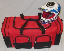 XL Motorcycle atv gear bag motocross off road dirt bike snowmobile Honda red