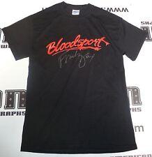 Frank Dux Signed Bloodsport Black T-Shirt PSA/DNA COA Small Kumite Champion Auto