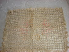 """Antique Chenille & Thread Doily Mat 24"""" by 18"""""""