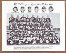 1962 WORLD CHAMPION Green Bay Packers 8x10 B&W Team Photo - Lombardi Nitschke ++