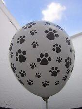 6 X Paw Patrol Globos Látex Fuentes De Decoración Fiesta huellas de perro blanco