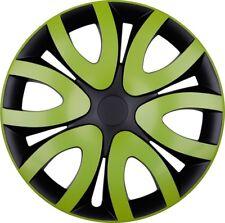 "4x Premium Diseño Tapacubos"" Mika ""16 pulgadas #66 en verde negro"