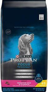 3x Purina Pro Plan Focus Sensitive Skin Stomach Adult Dog Food Salmon& Rice 41lb