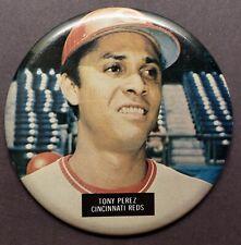 VINTAGE 1970's TONY PEREZ CINCINNATI REDS STADIUM PIN PINBACK BUTTON ORIGINAL