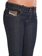 $178 DIESEL Grupee 0881K Super Slim Skinny Jeans W24 L30 Dark Blue