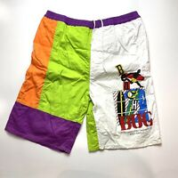Vintage Beach Bug Mens Board Shorts Size L Beach 90s Bright Loud Surfing Mambo