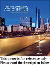 Financial and Managerial Accounting 18th Int'l Ed.US Delivery 3-4 bus day/Insure