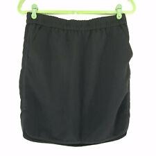 J Crew Womens Size 4 Skirt Black Elastic Waist Casual Pockets