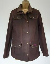 Ladies Barbour Brown Wax Jacket Sz 12