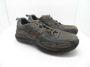 Skechers Men's Casual Lace Up Air Cooled Memory Foam Shoe Charcoal Size 9EWW