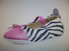 Old Soles Fashionista Flat Pink & White Zeba Size 0-3 Months, EU 17 NIB